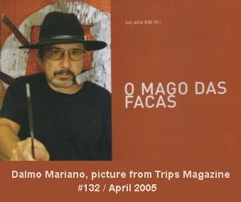 Dalmo Mariano, Mago das facas de arremesso.
